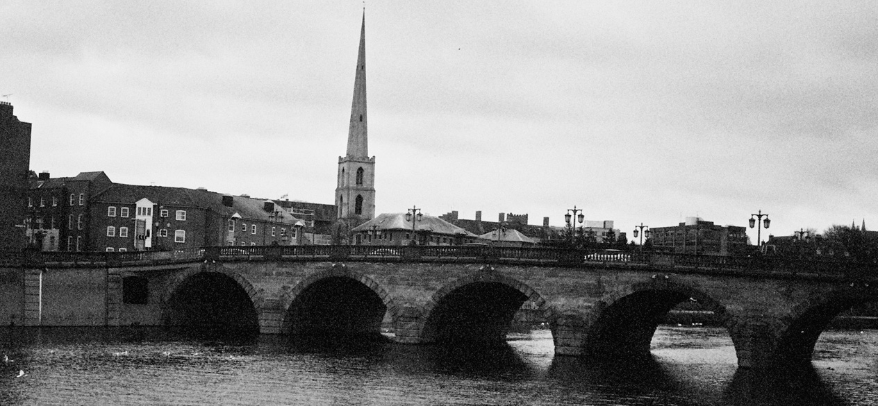 A view of Worcester Bridge