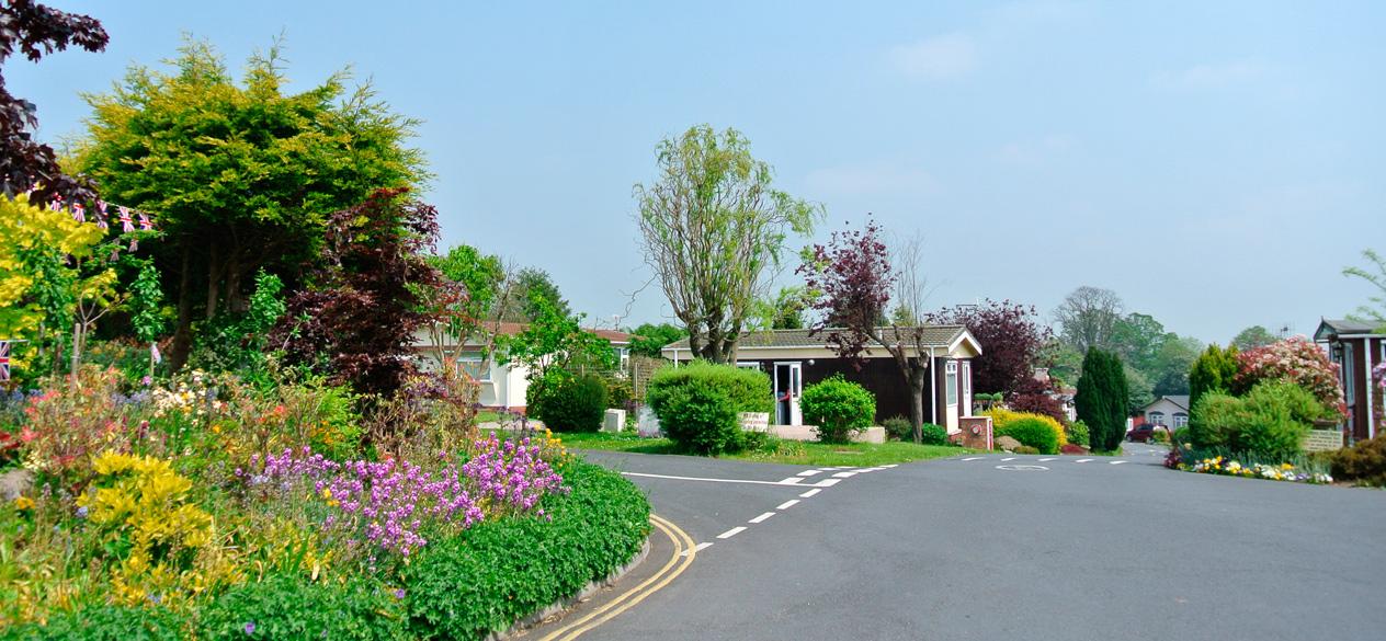well kept gardens at retirement park